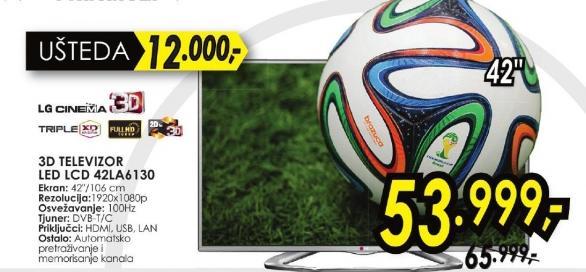 """Televizor LED 42"""" 3D 42la6130"""