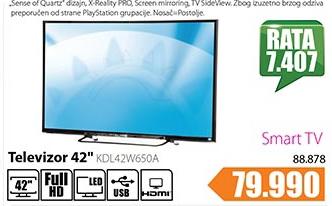 Televizor LED KDL42W650A