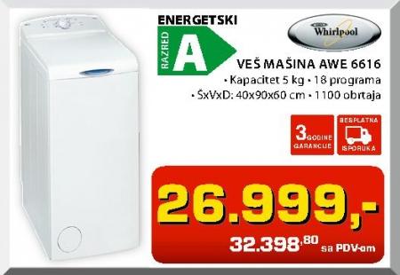 Mašina Za Veš Awe6616