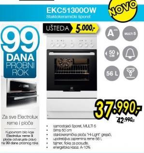 Električni šporet Ekc51300ow