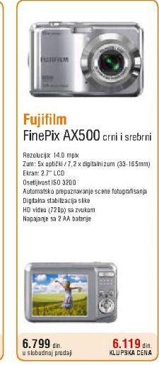 Digitalni fotoaparat FinePix AX500