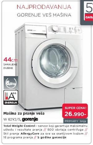 Mašina za pranje veša W 62y2/s