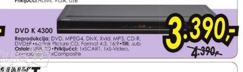 DVD plejer K 430