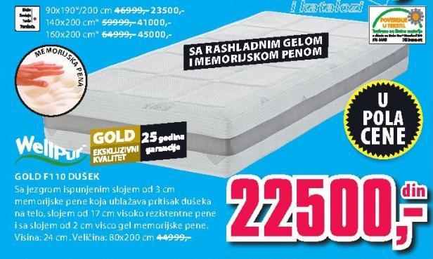 Dušek Gold F110 140x200