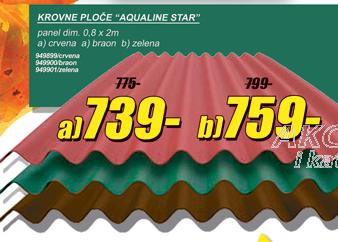 Krovne ploče ''Aqualine Star'', zelena boja