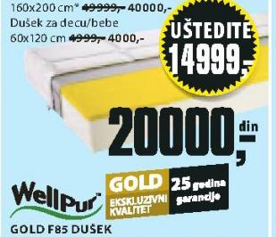 Dušek Gold F85, 160x200cm