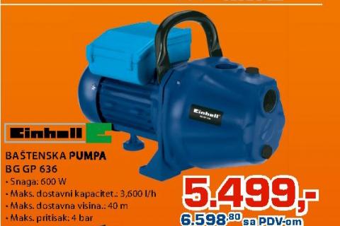 Pumpa za baštu BG-GP 636