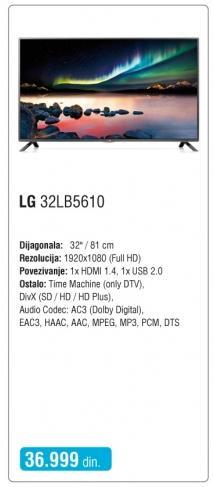 """Televizor LED 32"""" 32lb5610"""
