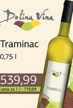 Belo vino Traminac