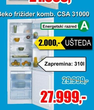 Frizider kombinovani CSA 31000
