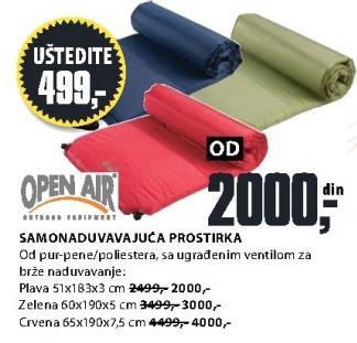 Samonaduvavajuća prostirka 60x190x5 cm Open Air