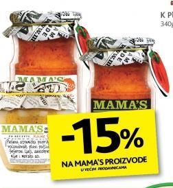 15% popusta na MAMAS proizvode