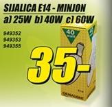 Sijalica E-14 Minjon 60W