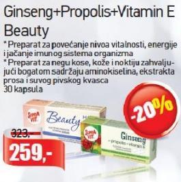 Ginseng Propolis Vitamin E Beauty