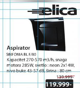 Aspirator SINFONIA BL F/80