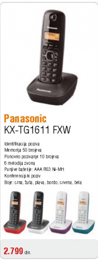 Telefon KX-TG1611 FXH
