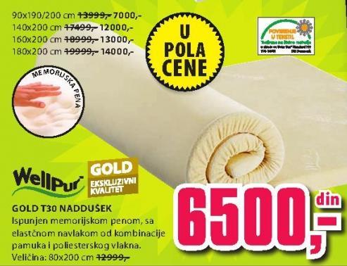 Naddušek Gold T30 180x200