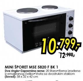 Mini Šporet Mse 5820 f bk 1