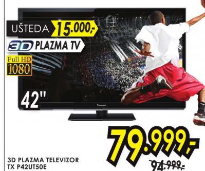 Televizor  3D plazma TX-P42UT50E