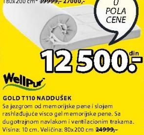 Naddušek Gold T110 80x200 cm