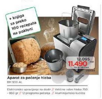 Aparat za pečenje hleba Bm 900 Al
