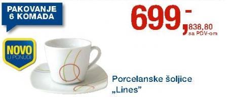 Porcelanske šoljice Lines