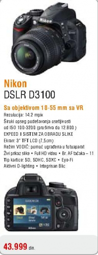 Fotoaparat DSLR D3100