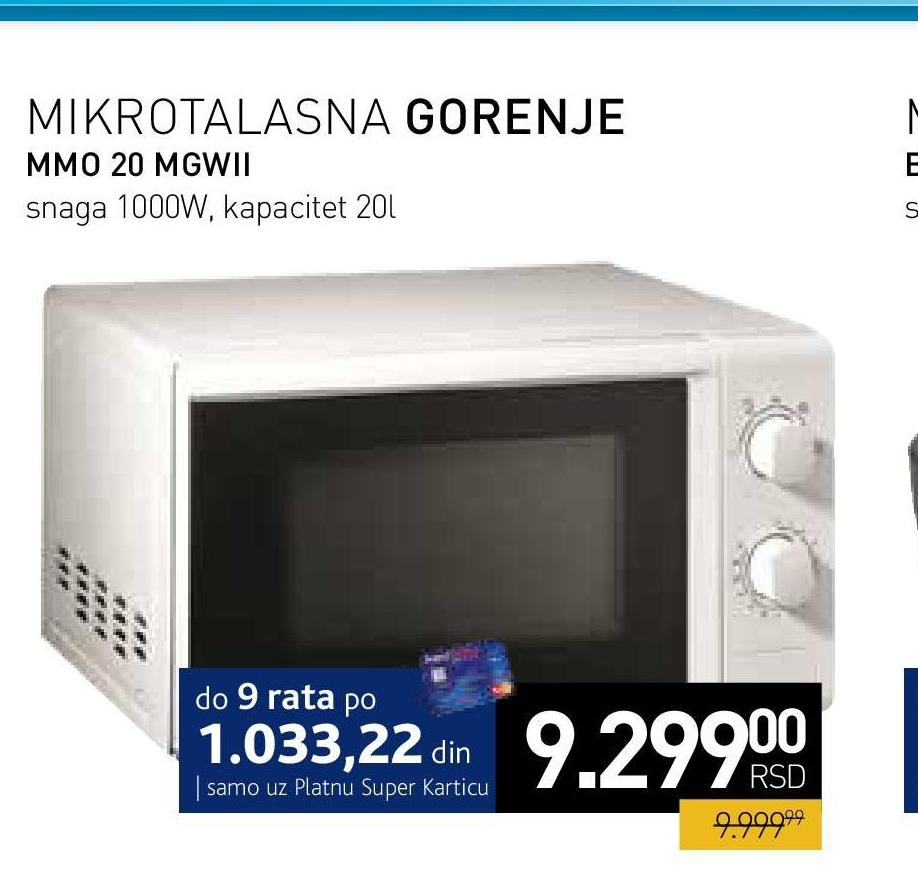 Mikrotalasna MMO 20 MGWII