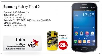 Mobilni elefon Galaxy Trend 2