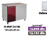 Kuhinjski element In Mdf Du100 Bordo