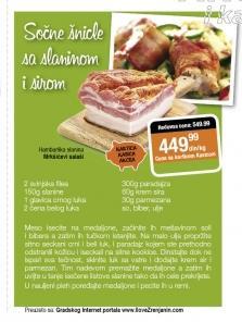 Recept - Sočne šnicle sa slaninom i sirom