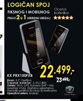Bežični telefon KX-PRX150FXB