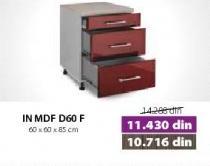 Kuhinjski element In Mdf D60f Moka