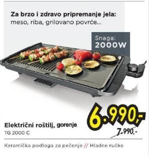 Električni roštilj Tg 2000 C
