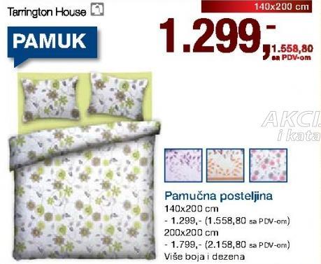 Pamučna posteljina 140x200cm