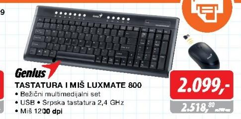 Tastatura i miš Luxemate 800
