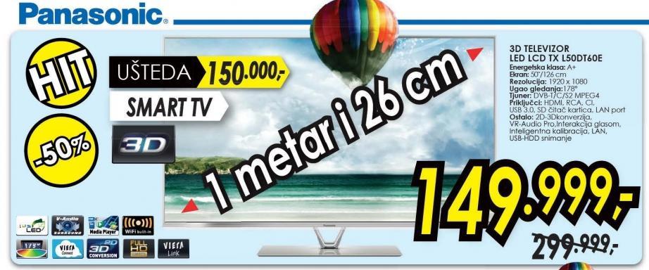 """Televizor LED 50"""" 3D L50dt60e"""