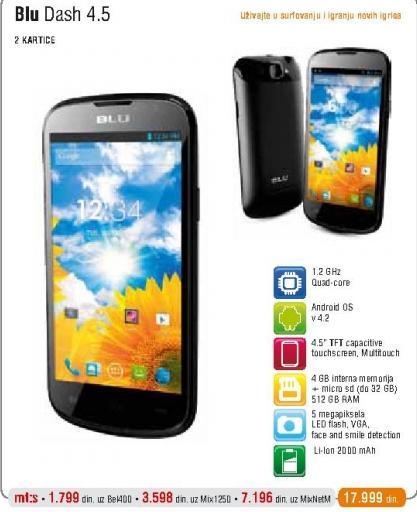 Mobilni Telefon BLU DASH 4.5