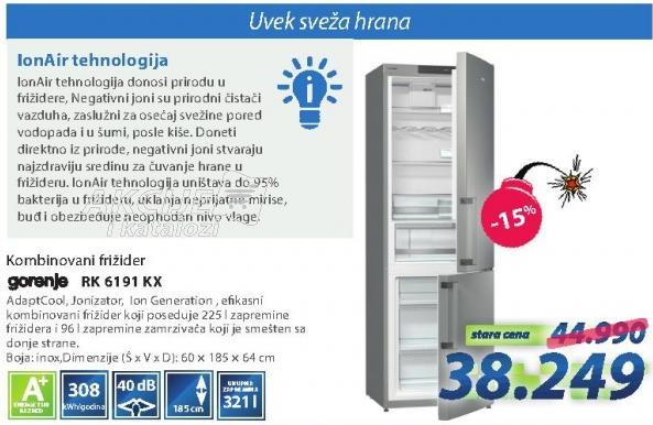 Kombinovani frižider Rk 6191 Kx