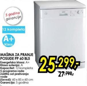 Mašina za pranje sudova Pp 60 Bl5