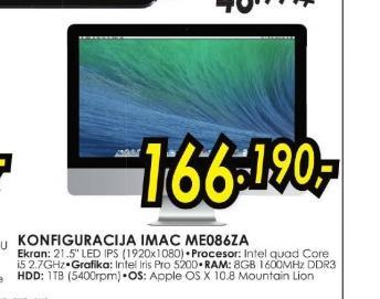 Konfiguracija iMac ME086Z/A