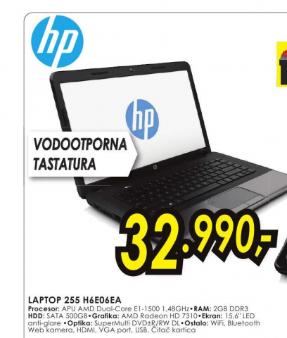 Laptop 255 H6E06EA 4GB