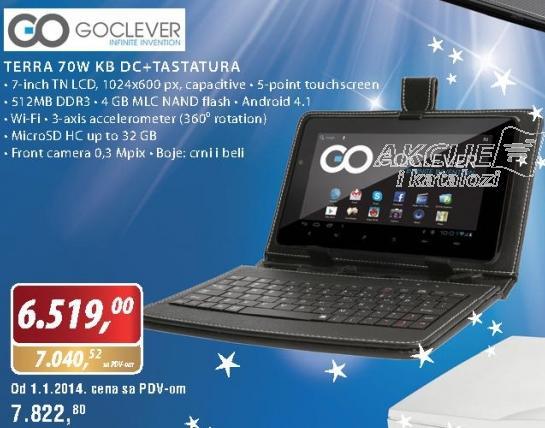 Tablet Terra 70 KW DC i tastatura