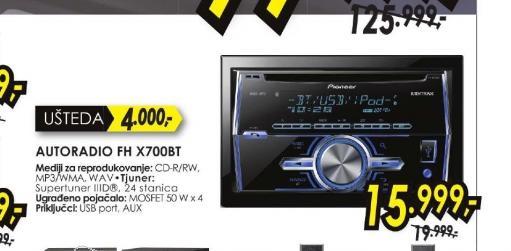 Autoradio FH-X700BT