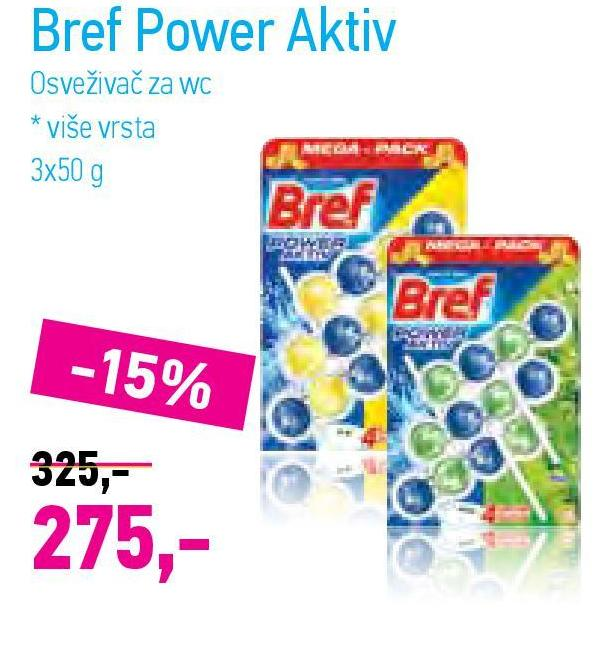 WC osveživač power active