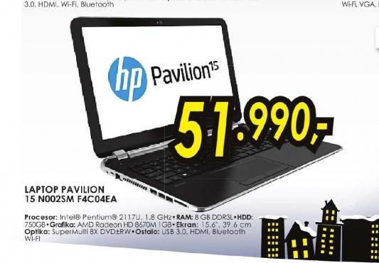 Laptop Pavilion 15-n002sm F4C04EA