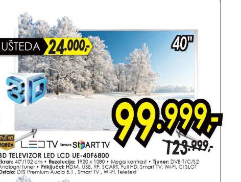 Televizor LED LCD UE-40F6800