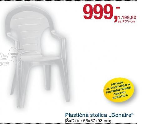 Stolica plastična Bonaire