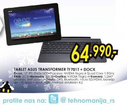 Tablet Transformer Pad TF701T-1B051A