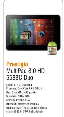 Tablet  MultiPad 8.0 HD (5588C) Duo